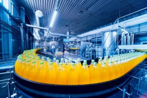 Factory that produces beverages